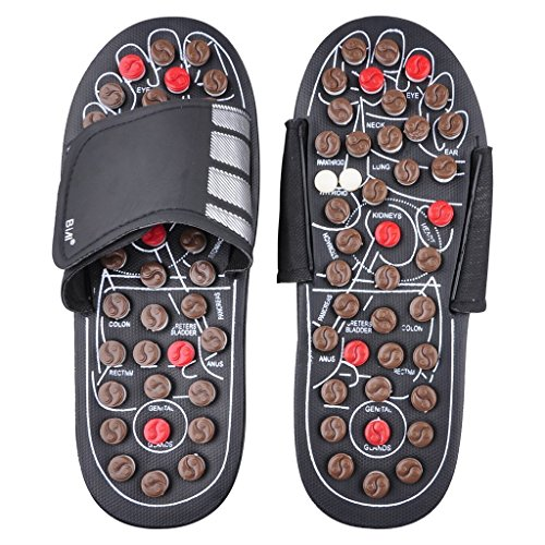 BIAL EX Massage Slipper Shoes Rotating Accupressure Foot Slippers for Men Women (Average Size)
