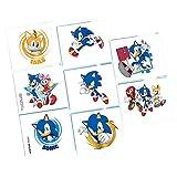 Amscan Sonic The Hedgehog Tattoo Favors