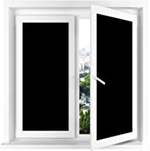 Vivi Do Blackout Window Film,Static Cling Window Tint 100% Light Blocking Glass Film for Privacy,Home Security,Insulation, and Day Sleep - No Residue, UV Prevention, Easy Removal (17.7