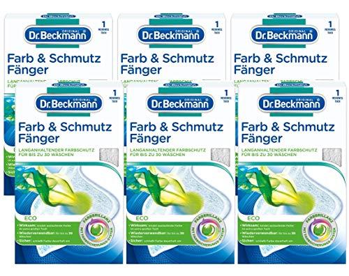 Dr. Beckmann Farb & Schmutzfänger Eco Mehrwegtuch, 6er Pack (6x 1 Stück) | langanhaltender Farbschutz für bis zu 30 Wäschen
