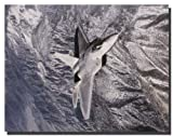 Aviation Wall Decor Military Poster F/A 22 Raptor Jet Art Print Picture (16x20)