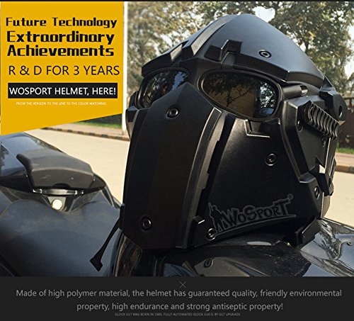 Full-covered taktischen Outdoor Motorrad Helm mit Maske Schutzbrille für Jagd Paintball Military Cosplay Movie Prop - 6