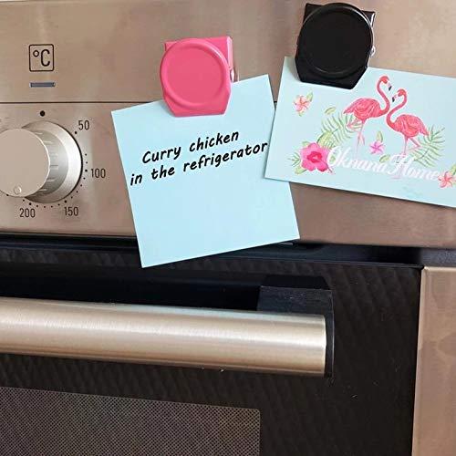 D88, 4 unids/lote imanes nevera mensaje clip magnético pegatinas hogar cocina decoración foto carpeta comida bolsa