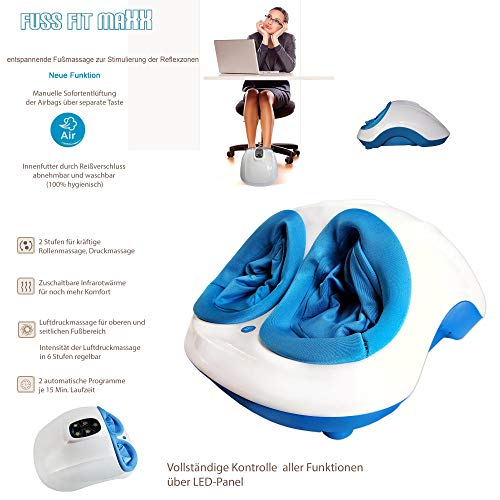 Fuss-fit-Maxx Fussmassagegerät mit Fußreflexzonen Massage
