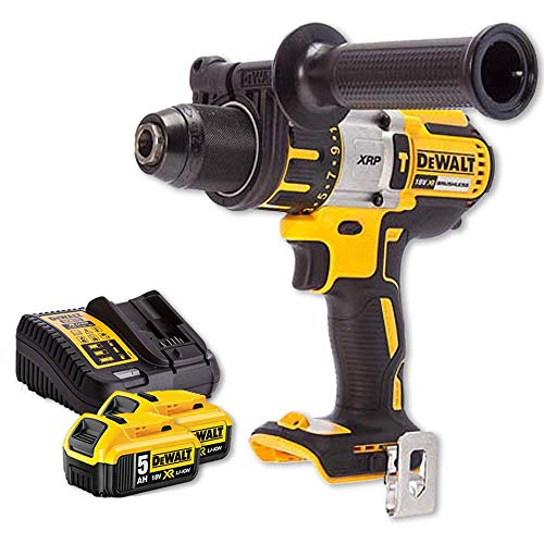 Dewalt DCD996N 18v XR Brushless Hammer Combi Drill + 2 x 5Ah Batteries & Charger
