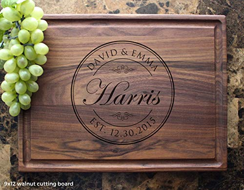 Personalized Cutting Board, Custom Keepsake, Engraved Serving Cheese Plate, Wedding, Anniversary, Engagement, Housewarming, Birthday, Corporate, Closing Gift #001