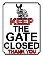門を閉じておく 金属板ブリキ看板警告サイン注意サイン表示パネル情報サイン金属安全サイン