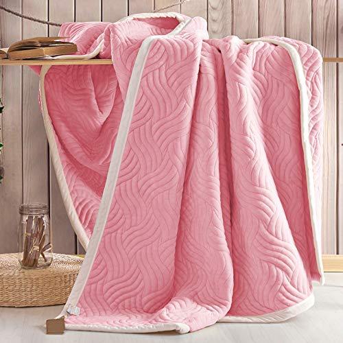 YIWANGO Nimen Double épais Couverture Unique Double Coral Cashmere Blanket Winter Wedding Gift,A3