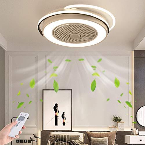 LED Fan Deckenleuchte Mit Beleuchtung Deckenventilator Unsichtbares Fan Licht Einstellbar Modern Schlafzimmer Deckenlampe Dimmbar Wohnzimmer Leuchte Mit Fernbedienung Leise Ventilator Kinderzimmer