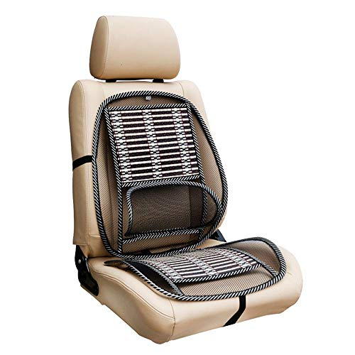 MeiBoAll Standard Size Ventilated Seat Cushion with Lumbar Support, Air Flow Breathable Back Support Cushion, Car Seat Cushion Cool Pad for Comfort and Lower Back Pain Relief