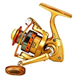 Yumos Ultralight Spinning Reel Ice Fishing Reel Light Weight, Ultra Smooth Size BMW150 Suitable for Ice Fishing