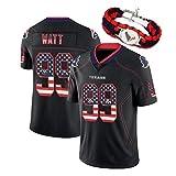 RHSD T-Shirt de Football américain Texans de la dernière Version 2020 du Drapeau, Maillot de Rugby Watson 4 Watt 99, Bracelet de même Style, édition Collector limitée-black99-XXXL