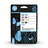 HP 950/951 Multipack (Blau/Rot/Gelb/Schwarz) Original Druckerpatronen für HP Officejet Pro 276dw, 8600, 8610, 8620, 251dw, 8100