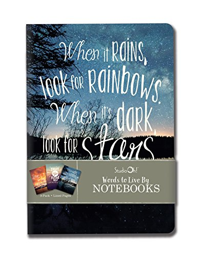 """Notebook Trio by Studio Oh! - Set of 3 - Words to Live By - 5.75"""" � 8.25"""" - 3 Coordinating Cardstock Cover Designs - 80 Lined Pages - for School, Work & Home"""
