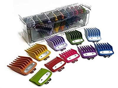 Professional Line Attachment Combs All Sizes with Strong Metal Fitting Cutting Guide Fit - Super Taper, Chromepro, Balding, Magic 5 Star and Other Standard Full Sized Clippers