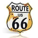 不适用 Placa de Metal para la Ruta de la autopista 66, Estilo rústico Elegante, Vintage, Retro, 30,5 x 30,5 cm, para Decorar la Cueva del hogar, el Hombre