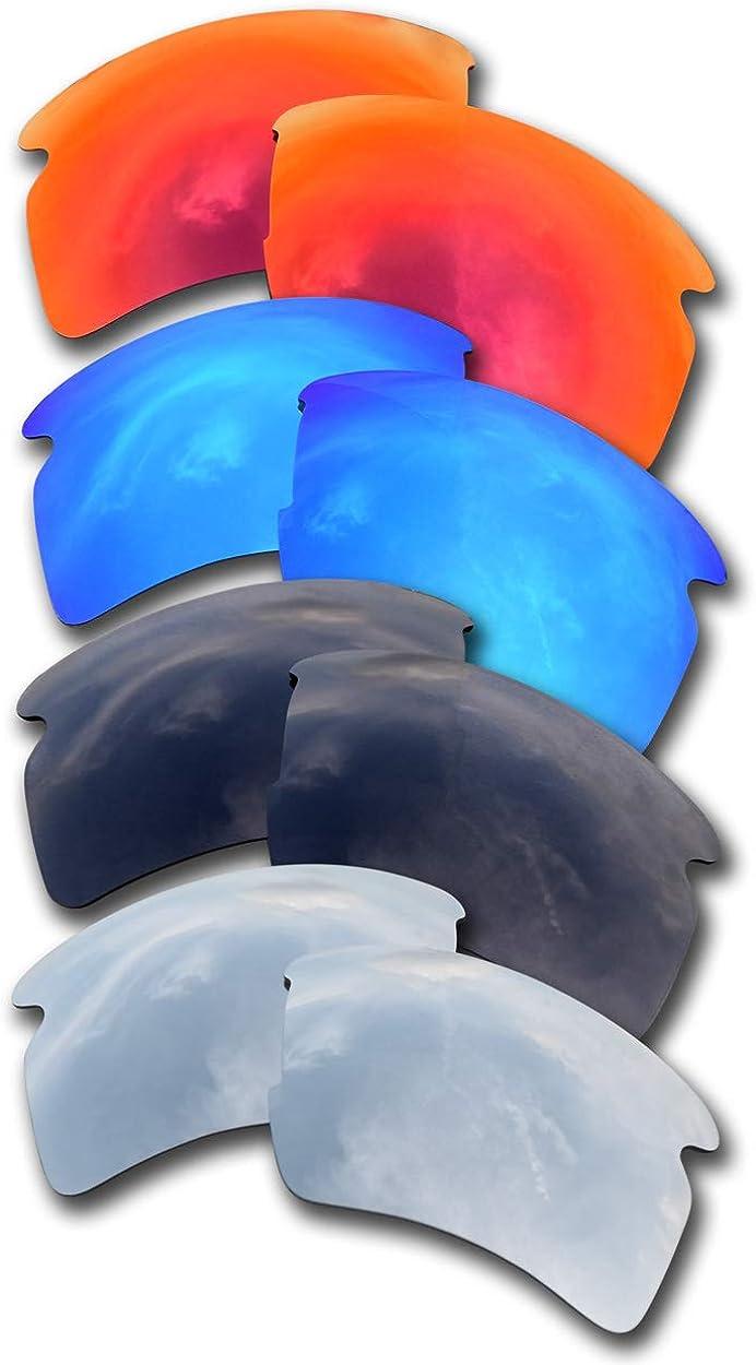 SOODASE For Oakley Flak Tucson Mall 2.0 XL Max 62% OFF Sunglasses Silver Black Blue Red