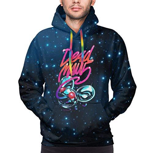 POQOQ Hooded Sweatshirt Men Women 3D Printed Plus Velvet Casual Pullover Hoodie with Big Pockets Heavy Blend Fleece L Blue