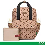 Babymel Georgi Eco Friendly Sac à dos à langer convertible Caramel Léopard