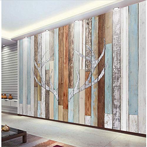 Zybnb Wall Papers Modern-Made 3D Mural Retro Board Character Antler Woonkamer Slaapkamer Slaapbank Tv 3D Achtergrond Home Decor