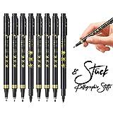 baozun Kalligraphie Stifte 8 Stück Kalligraphie Kugelschreiber Fasermaler Pinsel Stift