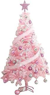 شجرة عيد الميلاد الاصطناعية الوردي للمنزل،مكتب،زخرفة حزب،120 سم شجرة عيد الميلاد مع أضواء والحلي المتنوعة