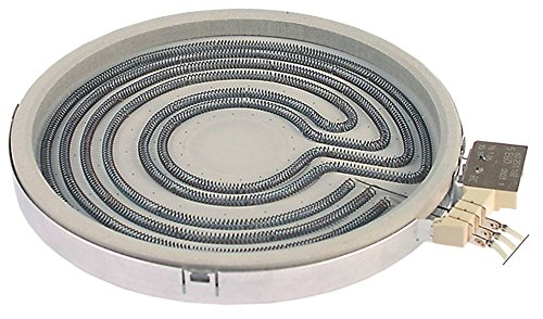 EGO 10.73601.004 Strahlungsheizkörper für Elektroherd Küppersbusch EEH413, EEH613, EEH410, EEH610, EEH210 2500W 230V ø 250mm