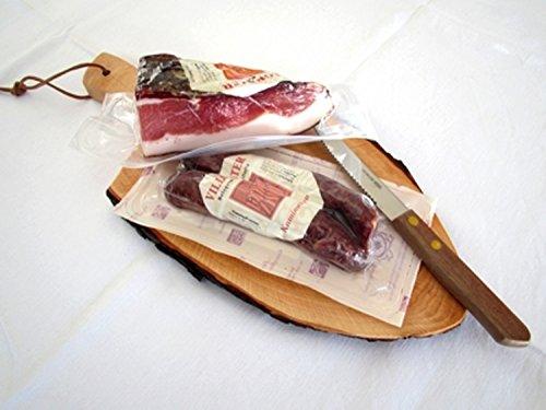 Südtiroler Spezialitäten Brettl + Messer Sexten