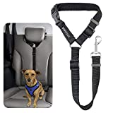 BWOGUE Pet Dog Cat Seat Belts, Car Headrest Restraint Adjustable Safety Leads Vehicle Seatbelt Harness