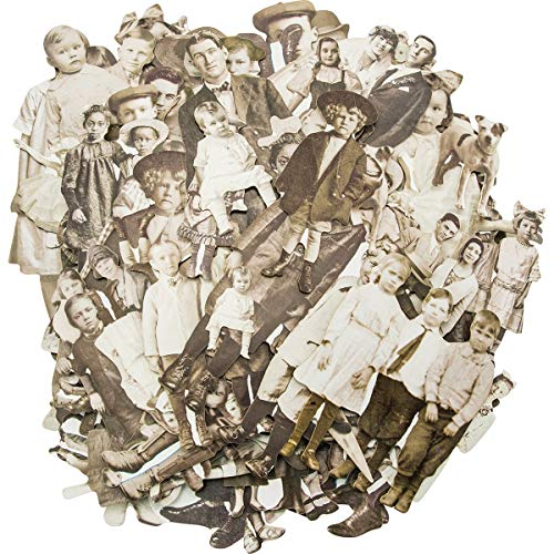 Tim Holtz Puppen, Papier, Mehrfarbig, 17,8x 13x 3cm