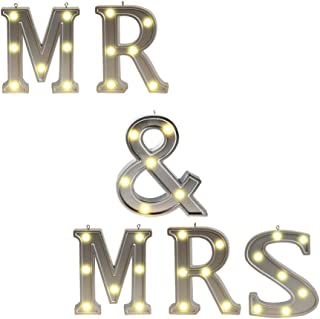 large light up mr and mrs sign
