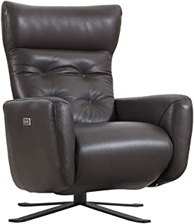 Federica Brown Leather Battery Power Recliner