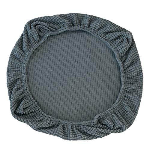 FLAMEER Fundas de Silla Cubierta de Asiento Protectora Elásticas Extraíble Lavable Cubre Silla para Comedor - Gris