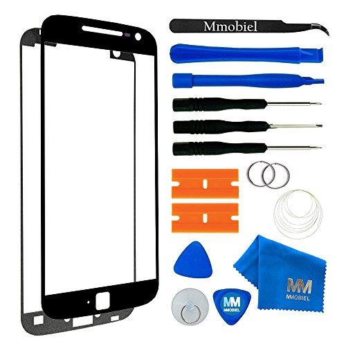 MMOBIEL Front Glas Reparatur Set kompatibel mit Motorola Moto G4 Plus XT1643 (Schwarz) Display Touchscreen mit Werkzeug