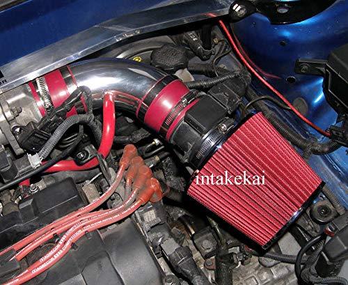PERFORMANCE AIR INTAKE KIT + FILTER FOR 2004-2006 HYUNDAI ELANTRA 2.0L L4 ENGINE / 2003-2008 HYUNDAI TIBURON 2.7L V6 ENGINE (RED)