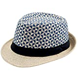 Charmylo Sombrero de Paja Hombre Panamá Casquillo Fedora Vaquero Trilby Mujeres Sunhat...