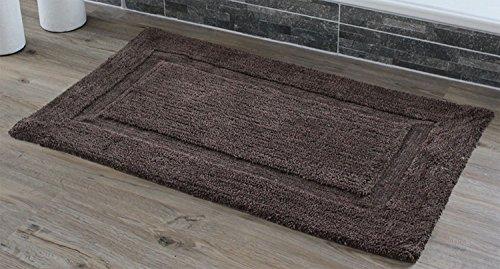 Gözze exclusieve hoogpolige badmat lijst 70 x 120 cm, chocolade