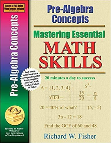 [0966621190] [9780966621198] Pre-Algebra Concepts (Mastering Essential Math Skills) 1st Edition-Paperback