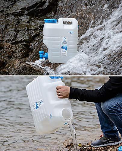 ZSYGFS Bidón de Agua Limpia Mineral Potable Cubo de Agua Cubo Exterior del hogar Portable del Coche Tanque de Almacenamiento de depósito de plástico (Size : 24L)
