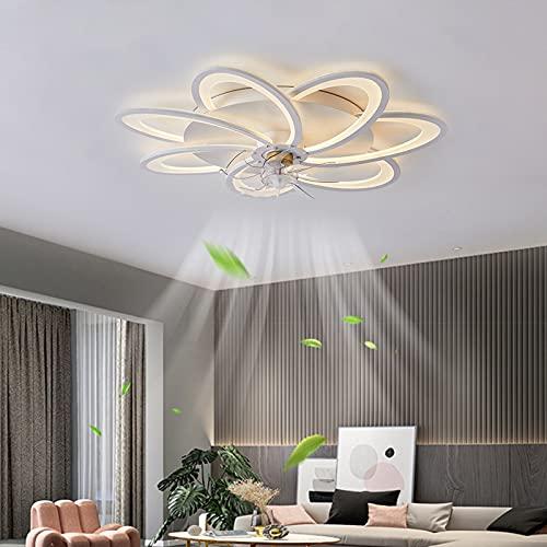 ACCZ Ventilador de Techo, Ventilador Techo con Luz LED Regulable con Control Remoto, Ventiladores de Techo de Velocidad Ajustable Remota, Temporización para Dormitorio, Sala de Estar, 3000K-6500K
