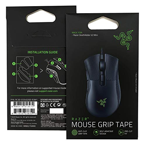 Razer - Nastro per impugnatura per mouse – per Razer DeathAdder V2 Mini: nastro antiscivolo – design autoadesivo – pre-tagliato