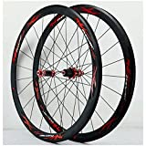 Llanta de bicicleta Juego de ruedas de bicicleta 700C Bicicleta de carretera Ciclismo Llanta Freno de llanta Cassette de 7-11 velocidades Volante de inercia Bujes de rodamiento sellados 6 Trinquetes Q