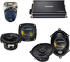 Compatible with Toyota Cressida 1988-1992 OEM Speaker Upgrade Harmony R4 R68 & CXA300.4 Amp (Renewed)