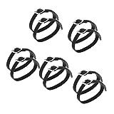 Baoblaze Confezione da 10 Cinturini Inglesi Rinforzati con Speroni con Fibbia in Lega Accessori per Equitazione