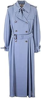 VALENTINO Luxury Fashion Womens TB3CA4I51MH394 Light Blue Trench Coat |