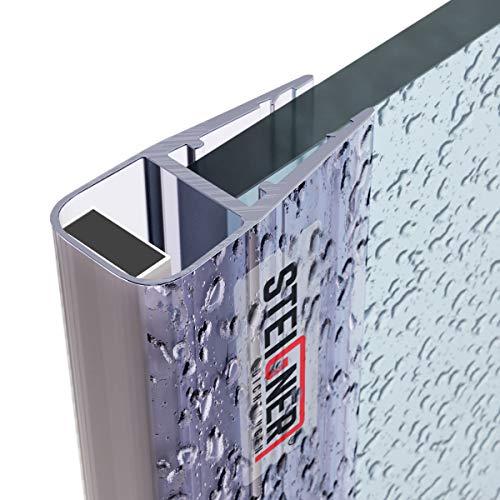 STEIGNER Magnetduschdichtung, 201cm, Glasstärke 6/7/ 8mm, Ersatzdichtung für Duschtür, UKM02, 1 Stück
