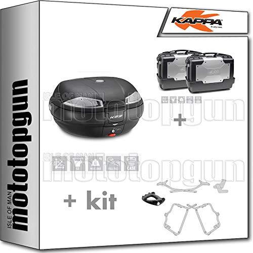 KAPPA K53N - Maletín con maleta lateral, maleta KGR33PACK2, portaequipajes y portaequipajes laterales, monociclo, compatible con Yamaha FZ6 600 FAZER S2 2010 10