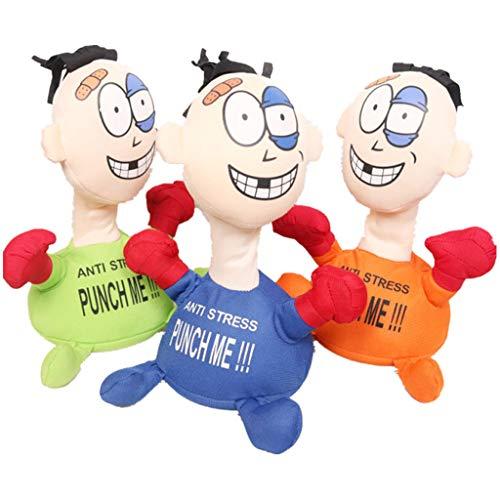 NAIHEN Stoffpuppe Stress, mit Aufdruck, Figur mit Saugnäpfen an der Unterseite, ideal zum Abbau von Stress, Wut und Aggressionen