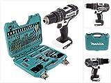 Makita DHP 482 ZW Akku Schlagbohrschrauber 18V 62Nm + 100 tlg. Bit, Bohrer & Steckschlüssel Set im Koffer, ohne Akku, ohne Ladegerät