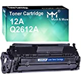 MM MUCH & MORE Compatible Toner Cartridge Replacement for HP 12A 12X Q2612A Q2612X to use with Laserjet 1012/1015/1018/1022/1020/3015/3020/3030/M1319f M1005 1022nw 1022n 3050/3050z Printer (Black)
